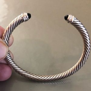 Jewelry - David Yurman 5 mm cable bracelet w diamonds